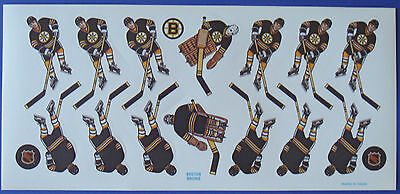Coleco NHL Boston Bruins Table Hockey Game Decals