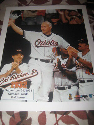 Cal Ripken Jr 8 X 10 Unsigned Picture