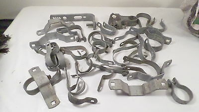 Assorted Lot Chain Link Fence Parts Braces Brackets Tension Bands