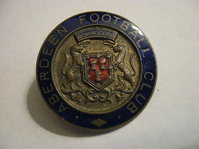 Rare Old Aberdeen Football Club Enamel Buttonhole Badge
