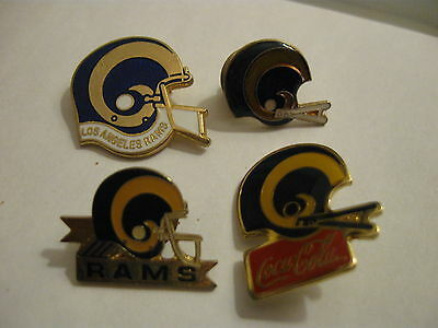 Set Of 4 Los Angeles Rams American Football Metal Pin Badges