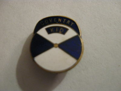 Rare Old Coventry City Football Supporters Club Juniors Enamel Brooch Pin Badge