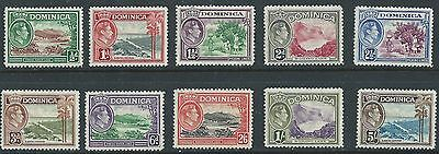 Dominica S.g All 10 Stamps Of 1938 Issue   Mnh Vf