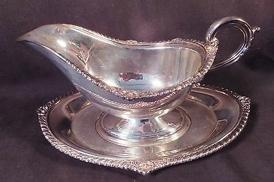 Rare Antique Sterling Gravy Boat & Underplate 503 Grams