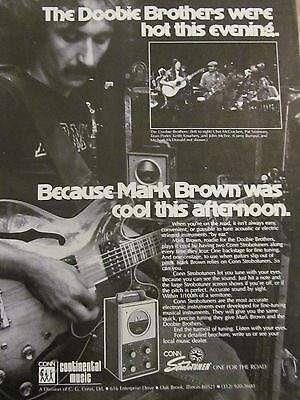 The Doobie Brothers, Conn Strobotuners, Full Page Vintage Promotional Ad