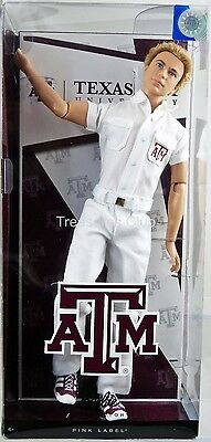 Barbie Collector Texas A&M University Ken Doll #X9207 Pink Label 2012 Mattel