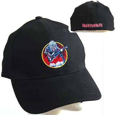 Iron Maiden! Fear Of The Dark Ed Bass Black Fitted Baseball Hat Cap New