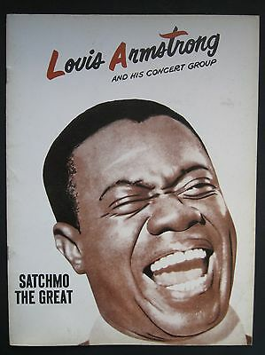 """Louis Armstrong And His Concert Group """"satchmo The Great"""" Circa 1960 Program"""
