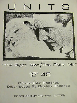 """Units, The Right Man 12"""", Full Page Promotional Ad"""