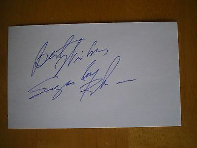 Sugar Ray Robinson Signed Autographed 3x5 index card Boxer Boxing  Champ