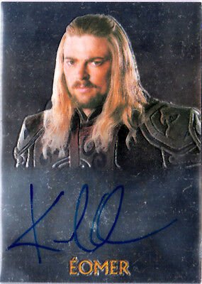 LOTR TOPPS CHROME - LORD OF THE RINGS AUTO CARD - KARL URBAN as EOMER
