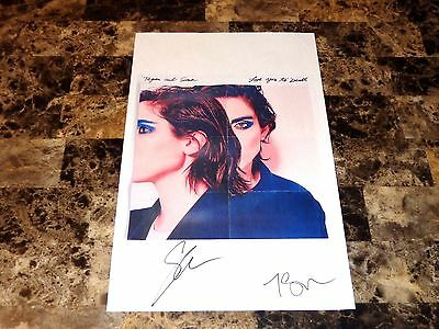 Tegan And Sara Rare Authentic Signed Promo Poster Love You to Death Autographed
