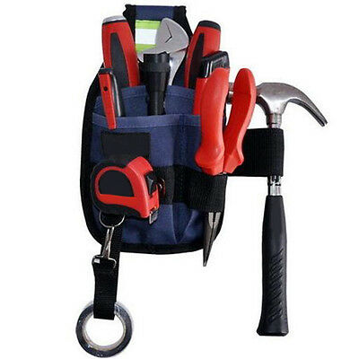 3-Pocket Pro Electrician Tool Belt Utility Pouch Work Tape Buckle Outdoor Sports