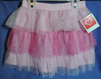 Toddler Size 4T Girls Pink Tulle Layered Skirt * Valentine's Day