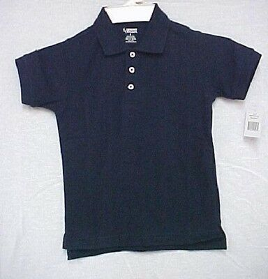 School Uniform Navy Blue Short Sleeve Polo Shirt Unisex French Toast 10 Husky