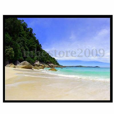 """100"""" inch 4:3 Manual Projection Screen Projector Matte White Home Movie Theater"""