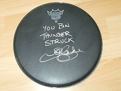Chris Slade Ac/dc Signed Drumhead