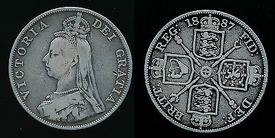 1887 Victoria...DOUBLE FLORIN....Arabic 1 in Date..Fast Post