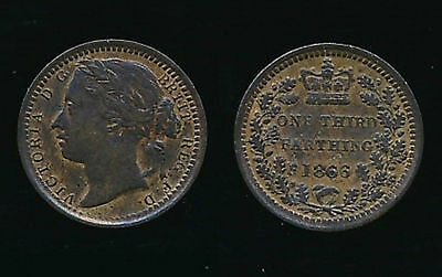 1866 Victoria...THIRD FARTHING...Fast Post