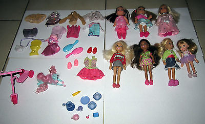 Gros Lot Poupees Mattel Shelly Soeur De Barbie Simba Vetements Accessoire Velo