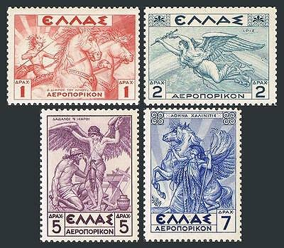 Greece C31-C34,MNH.Michel 374y-377y. Air Post 1937-1939.Helios,Iris,Daedalus,