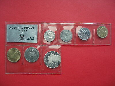 Austria Currency coin set 1972 mint gloss in original packaging