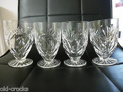 4 Waterford Crystal Footed Glasses - Beautiful!
