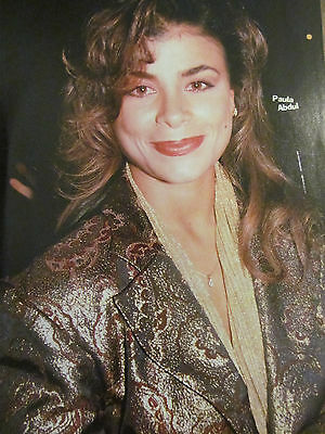 Paula Abdul, Chris Wolf, Guys Next Door, Double Full Page Vintage Pinup