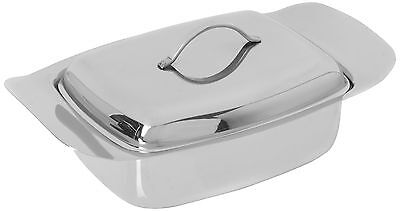 Genware NEV-6003 Butter Dish And Lid Stainless Steel 250 ... NEW - FAST DELIVERY