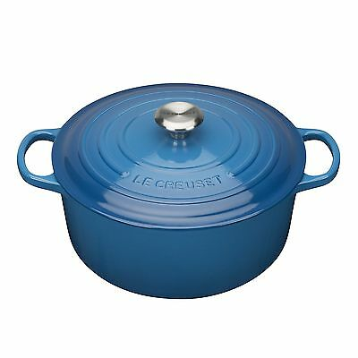 Le Creuset Signature Cast Iron Round Casserole 28 cm - Ma... NEW - FAST DELIVERY