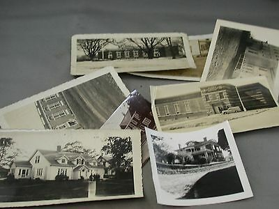 Architectural B&W Photo Lot Ship Captain's House Annapolis Royal School NS NB