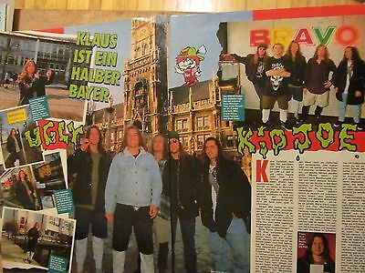 Ugly Kid Joe, Two Page Vintage Clipping, German Magazine