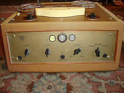 rare vintage brennel reel to reel tape machine