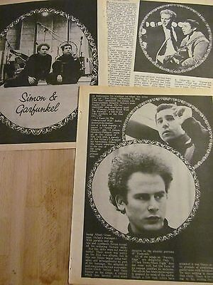 Simon and Garfunkel, Three Page Vintage Clipping