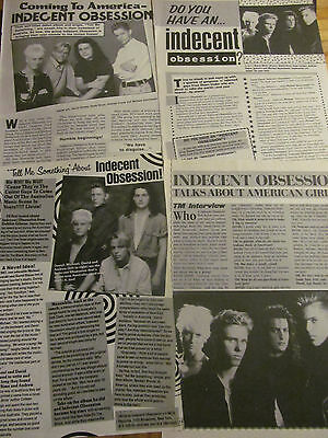 Indecent Obsession, Lot of FOUR Full Page Vintage Clippings