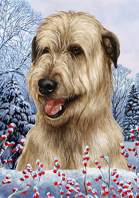 Garden Indoor/Outdoor Winter Flag - Wheaten Irish Wolfhound 153301