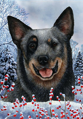 Garden Indoor/Outdoor Winter Flag - Blue Australian Cattle Dog 150721