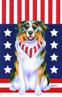 Garden Indoor/Outdoor Patriot (TP) Flag - Australian Shepherd 750741