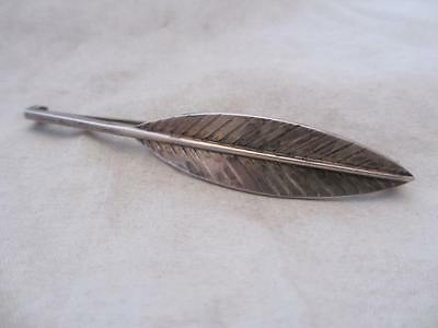 Sterling Silver Hans Hanson Feather Brooch Pin Vintage c.1950's.. TBJ01077