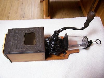 Restored Arcade Golden Rule Wall Mount Coffee Grinder/Catch cup/lid not Orig.