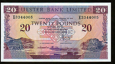Quality  1990 £20 ULSTER BANK  Uncirculated