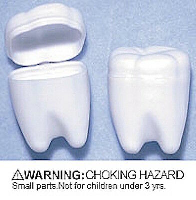 Kids Tooth SHAPED  Saver  Tooth Container Box   X 1 UNIT  random  COLOUR
