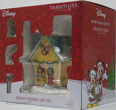 Disney Traditions by Department 56 Mickey's Place House Holiday Gift Set