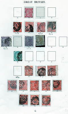 Album Page Of Early Gb Q Victoria Stamps,selling My Collection By Pages