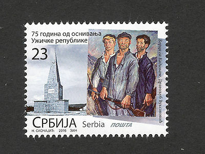Serbia-Mnh-Stamp-75 Years Since The Establishment Of The Republic Of Uzice-2016.