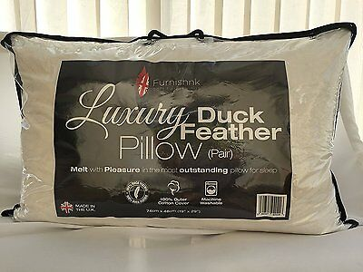 Duck Feather Pillow For Home Use Or Hotel 2,4,6,8,10 Pack  With Pillow Bags