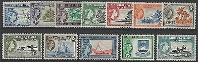 GILBERT & ELLICE IS., 1956 set of 12, unmounted mint MNH, SG#64-75