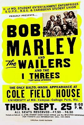 "Bob Marley Cole Field 16"" x 12"" Photo Repro Concert Poster"