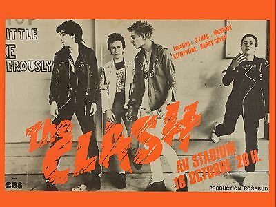 "The Clash French 16"" x 12"" Photo Repro Concert Poster"