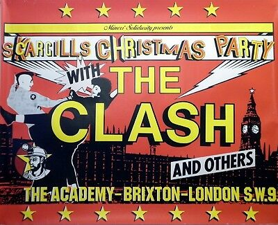 "The Clash Brixton 16"" x 12"" Photo Repro Concert Poster"